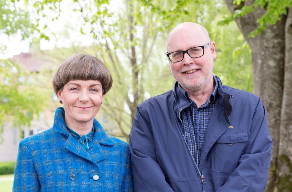 Kvällens föreläsare: Marie Eriksson och Roddy Nilsson (foto: Johannes Nilsson)
